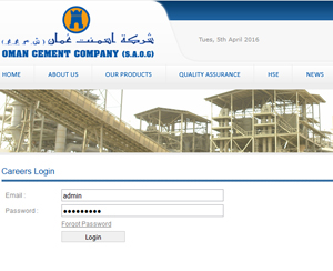 e-Recruitment Oman Cement Company